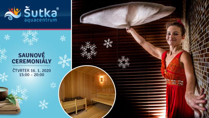 Novoroční saunové ceremoniály v Aquacentru Šutka