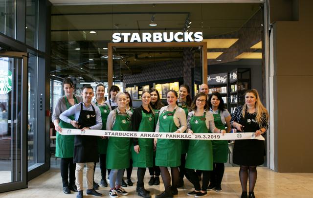 Starbucks otevřel novou pobočku na Pankráci