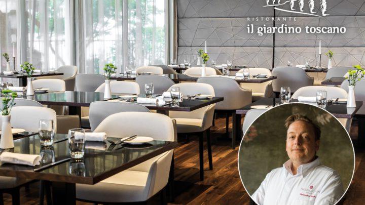 Šéfkuchař Chris Naylor v pražské restauraci Il Giardino Toscano